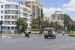 街道在突尼斯 免版税库存图片