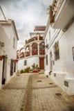 街道在米哈斯,西班牙 库存照片