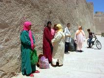 街道在索维拉,市大西洋在摩洛哥 图库摄影