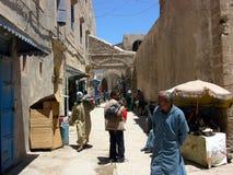 街道在索维拉,市大西洋在摩洛哥 免版税库存照片