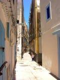 街道在索维拉,市大西洋在摩洛哥 库存照片