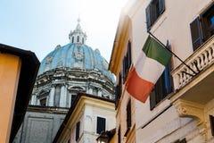 街道在罗马,意大利在夏天 库存照片