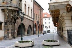 街道在老城镇。 免版税库存照片
