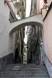 街道在老热那亚 免版税库存图片