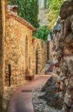 街道在老镇在法国 免版税库存照片