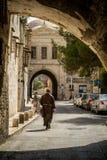 街道在耶路撒冷,以色列耶路撒冷旧城  免版税图库摄影