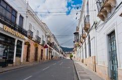 街道在苏克雷,玻利维亚的首都 免版税库存照片