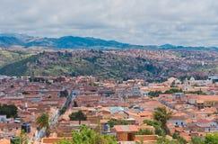 街道在苏克雷,玻利维亚的首都 图库摄影