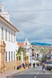 街道在苏克雷,玻利维亚的首都 免版税图库摄影