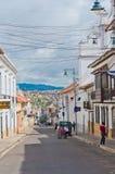 街道在苏克雷,玻利维亚的首都 库存照片
