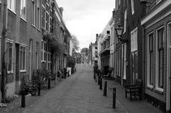 街道在莱顿,荷兰 免版税库存图片