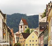 街道在菲森 巴伐利亚人 德国 库存照片
