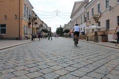 街道在西白俄罗斯 库存照片