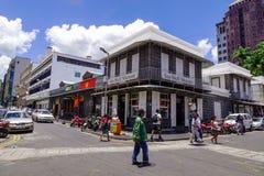 街道在路易港,毛里求斯 免版税图库摄影