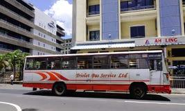 街道在路易港,毛里求斯 免版税库存图片
