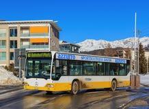街道在达沃斯,瑞士 免版税库存图片
