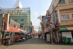 街道在釜山韩国 免版税库存图片