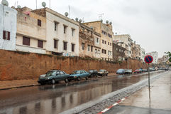 街道在镇索维拉,摩洛哥里 库存图片