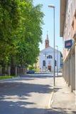 街道在阿德里亚的中心 免版税库存照片
