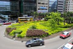街道在香港中央  免版税库存照片