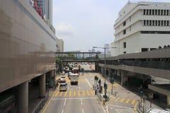 街道在香港中央  免版税库存图片