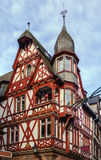 街道在马尔堡,德国 库存图片