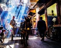 街道在马拉喀什 库存照片