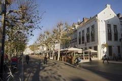 街道在马斯特里赫特 免版税图库摄影
