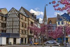 街道在鲁昂,法国 免版税库存图片