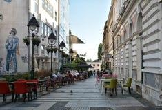 街道在贝尔格莱德,塞尔维亚 免版税库存照片