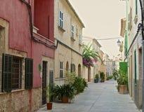 街道在Alcudia 库存照片