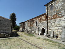 街道在Apollonia,阿尔巴尼亚 免版税库存图片