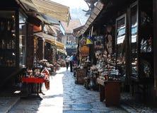 街道在Bascarsija,萨拉热窝 免版税库存图片