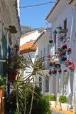 街道在Benalmadena镇,西班牙 免版税库存图片