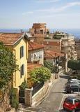 街道在Canton de Beausoleil 法国 库存照片