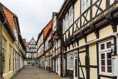 街道在Celle,德国 免版税库存照片