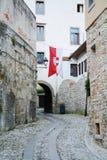 街道在Cividale,意大利 库存图片
