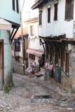 街道在Cumalikizik村庄,伯萨,土耳其 图库摄影