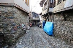 街道在Cumalikizik村庄,伯萨,土耳其 库存照片