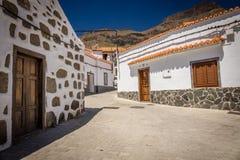 街道在Fataga 库存照片