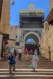 街道在Fes摩洛哥麦地那  库存图片