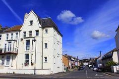 街道在Hythe镇肯特英国 库存照片