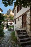 街道在Melnik城镇,保加利亚 库存照片