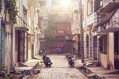 街道在Puducherry 库存图片