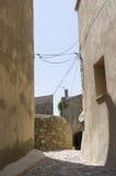 街道在Sant'Antonino可西嘉岛 免版税库存图片
