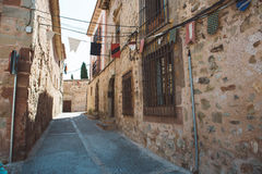 街道在Siguenza,瓜达拉哈拉 库存图片