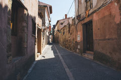 街道在Siguenza,瓜达拉哈拉 图库摄影