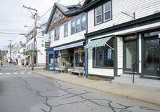 水街道在Stonington康涅狄格 免版税库存图片