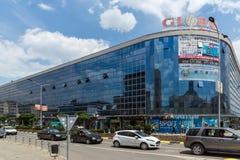 街道在Strumica,马其顿共和国镇的中心  免版税图库摄影
