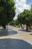 街道在Strumica,马其顿共和国镇的中心  免版税库存图片